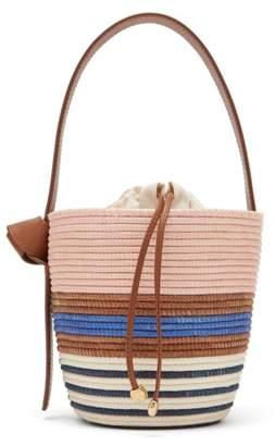 Cesta Collective - Half Breton Sisal Basket Bag - Womens - Blue Multi