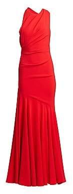 Talbot Runhof Women's Crepe Sleeveless Gown