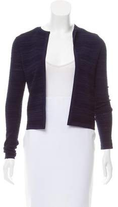 Ralph Lauren Purple Label Rib Knit Open Front Cardigan