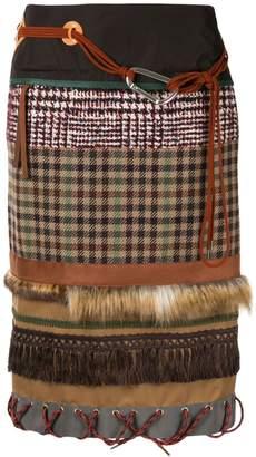 Kolor patchwork midi skirt