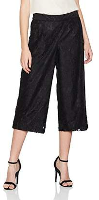 Dorothy Perkins Women's Lace Wide Leg Crop Trousers