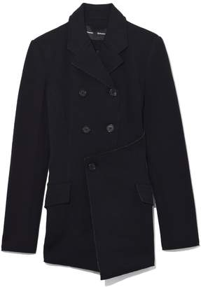 Proenza Schouler Asymmetrical Jersey Suiting Blazer in Black
