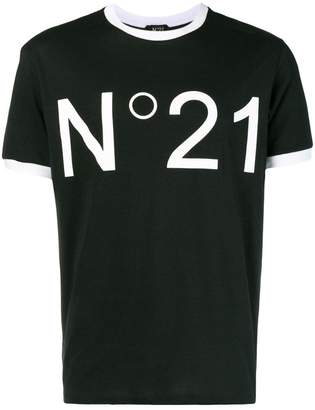 No.21 printed logo T-shirt