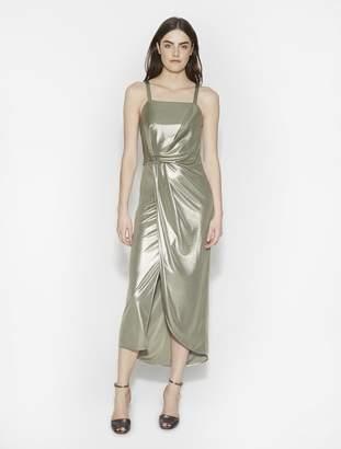 Halston Metallic Jersey Maxi Dress