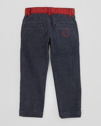 Little Marc Jacobs Boy's Fleece-Feel Denim Pants, Sizes 6Y-10Y