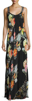 Johnny Was Mixed-Print Maxi Dress, Plus Size