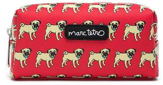 Marc Tetro Small Red Pug Cosmetic Case