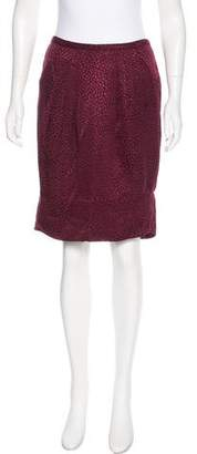 BCBGMAXAZRIA Silk & Wool Knee-Length Skirt