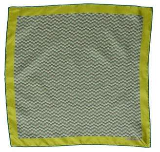Hermes Maillons Vagues Silk Pocket Square w/ Tags