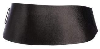 Gary Graham Leather Wide Belt