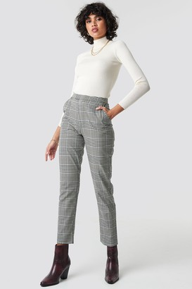 Na Kd Classic High Waist Checkered Suit Pant Checkered