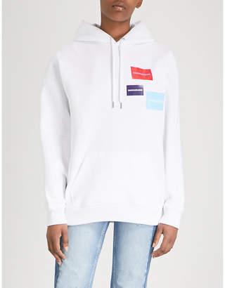 Calvin Klein Multi-logo print cotton-blend hoody