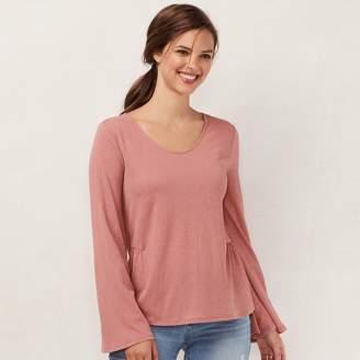 Lauren Conrad Women's Flare-Sleeve Top