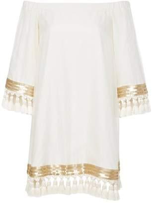 Mestiza New York Cha Cha Silk Cocoon Tassel Dress