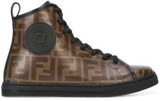 Fendi monogram hi-top sneakers