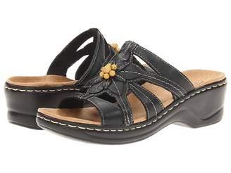 180930829b9 Clarks Black Slide Women s Sandals - ShopStyle