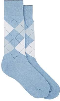 Barneys New York Men's Argyle Cotton-Blend Mid-Calf Socks