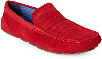 Steve Madden Red Upswing Casual Suede Loafers