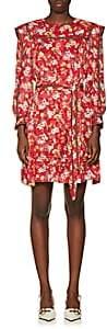 Derek Lam 10 Crosby Women's Floral Silk-Blend Jacquard Belted Dress - Red