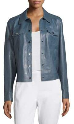 Lafayette 148 New York Destiny Leather Jacket