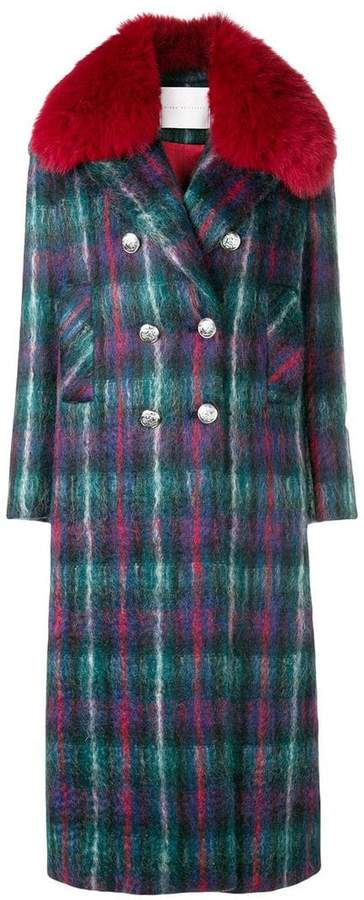 Giada Benincasa checked long coat