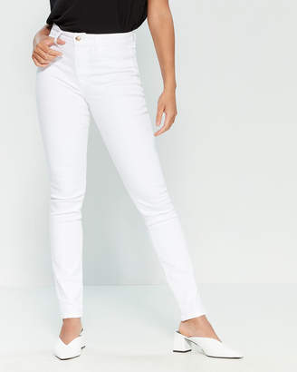 Joe's Jeans White Charlie High-Rise Skinny Pants