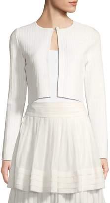 Carolina Herrera Women's Ribbed Silk-Blend Cardigan