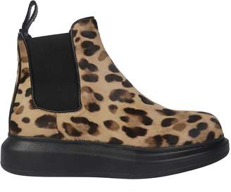 Alexander McQueen Elasticated Slip-on Ankle Boots