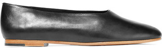 Vince - Maxwell Leather Ballet Flats - Black $225 thestylecure.com
