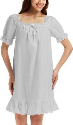20b8a01de7 Adorneve Women Short Sleeve Soft Casual Night Gown Pajama Sleepwear