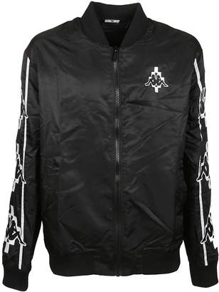 Marcelo Burlon County of Milan Kappa X Crumpled Bomber Jacket