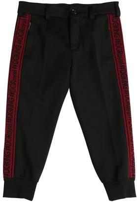 Dolce & Gabbana Logo Bands Milano Jersey Pants