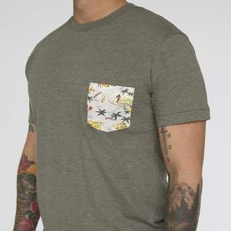 Blade + Blue Olive Hawaii Print Pocket Tee