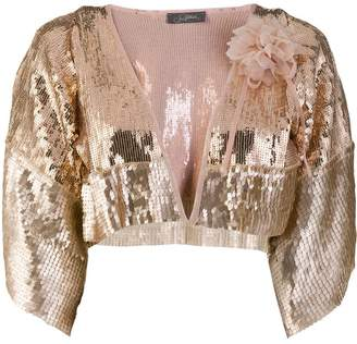 Soallure So Allure sequin embellished bolero