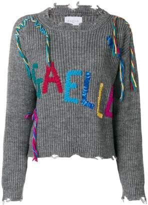 Gaelle Bonheur embroidered logo jumper