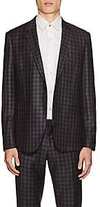 Paul Smith Men's Kensington Checked Wool Two-Button Sportcoat - Purple