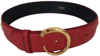 Cartier Vintage Red Leather Belts