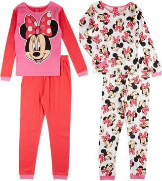 Disney Girls' Minnie Mouse Smile Pretty 4 Piece Cotton Set