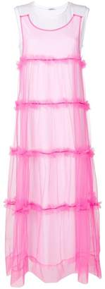 P.A.R.O.S.H. tulle layered maxi dress