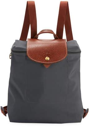 Longchamp Le Pliage Nylon Backpack, Gray