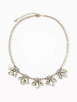 Old Navy Marquis-Crystal Statement Necklace for Women