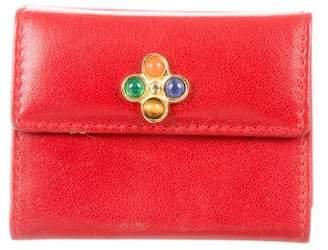 Judith Leiber Leather Mini Cardholder