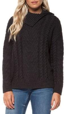 Dex High Neck Cable Knit Sweater