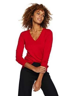 Lark & Ro Women's Long Sleeve V-Neck Sweater