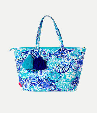 Lilly Pulitzer Palm Beach Zip Up Tote Bag
