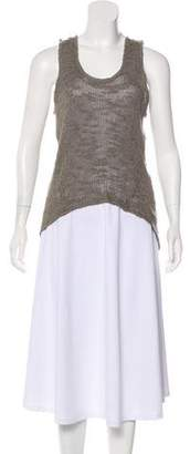 Helmut Lang Open Knit Silk Tunic