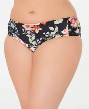 Becca Etc Plus Size French Valley Hipster Bikini Bottoms Women's Swimsuit