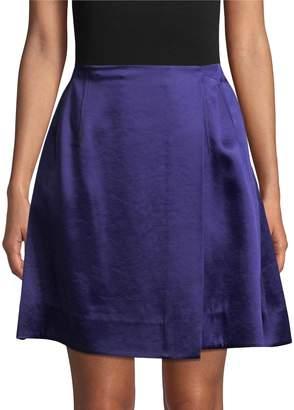 Diane von Furstenberg Women's High Waisted Flare Mini Skirt