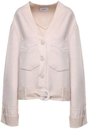 Iman Nanushka Silk And Wool-blend Jacket