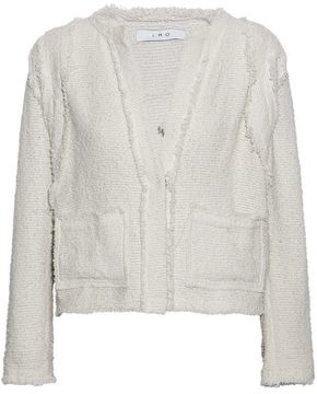 IRO Frayed Cotton-Blend Bouclé-Tweed Jacket